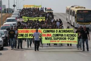 Manifestação realizada em 2014 cobrou do governo federal o cumprimento do acordo firmado em prol do reconhecimento