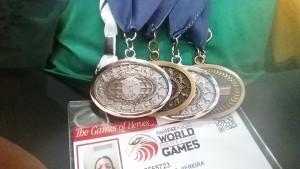 20.07.15 - Jogos-Mundiais-Policia e-Bombeiros- Anuska Medalhas -Arquivo-Pessoal