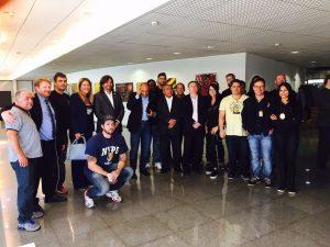 Comitiva formada por diretores do Sinpol-DF e policiais civis sindicalizados (Fotos: Arquivo Pessoal)
