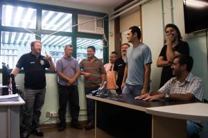Gaúcho, presidente do Sinpol-DF, ressalta que as visitas aproximam a diretoria da base (Fotos: Otto Peyerl/Sinpol-DF)